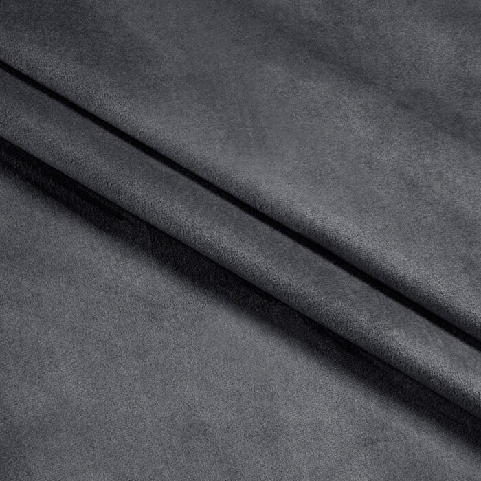 Ultrasoft & Fine Grommet Top Velvet Curtain Panels Grey