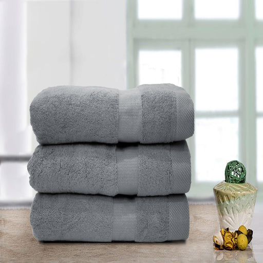 Double Stripe Soft Towel Grey - Cotton Passion