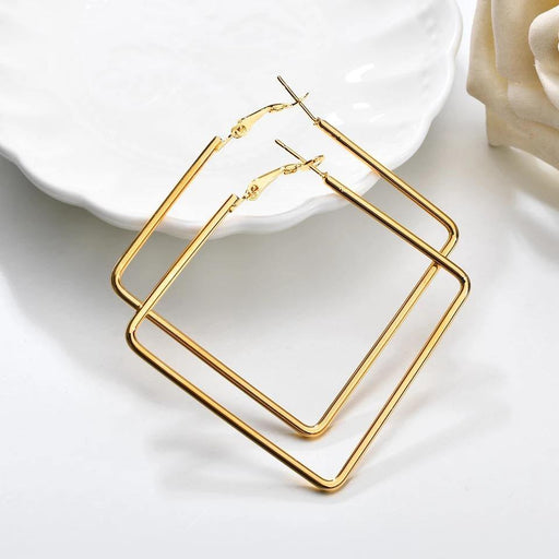 Square Hoop Earrings - Cotton Passion