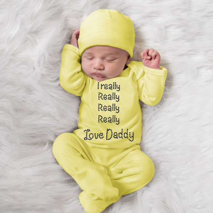 I Really Love Daddy Custom Designed Baby Romper Set