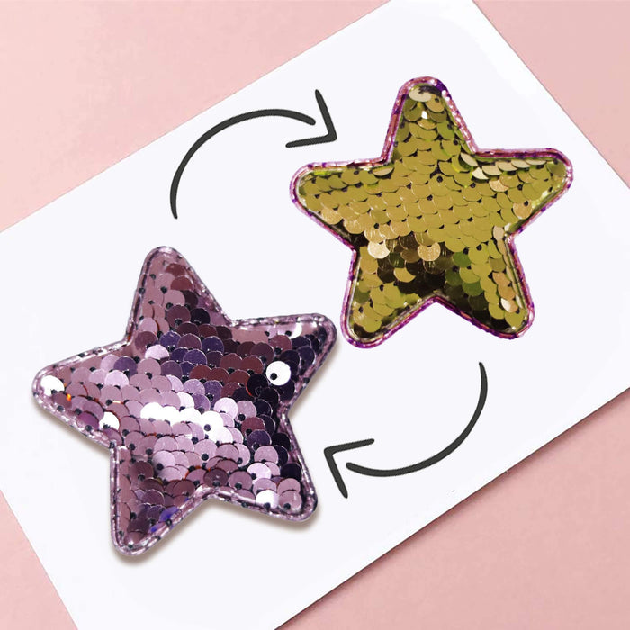 Reversible Sequin Star Pin Pack - Cotton Passion