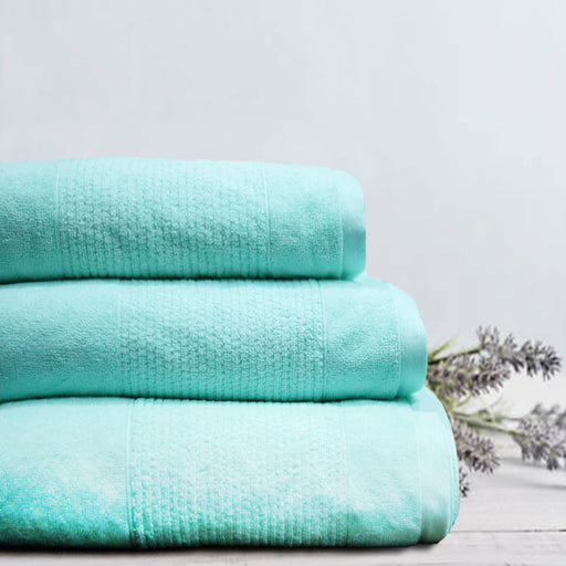 Thick Stripe Soft Towels Mint - Cotton Passion