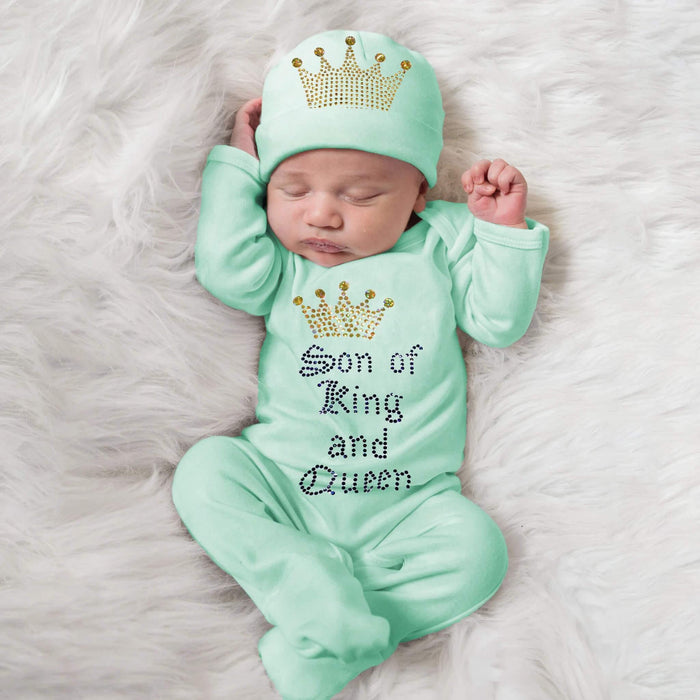 Son of a King & Queen Baby Romper Set - The Baby Store