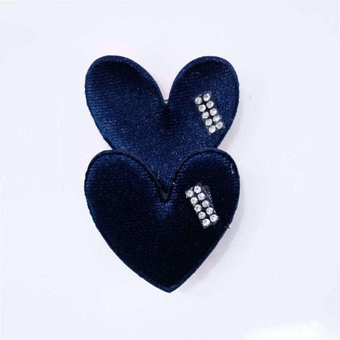 Heart Pin Pair - Cotton Passion