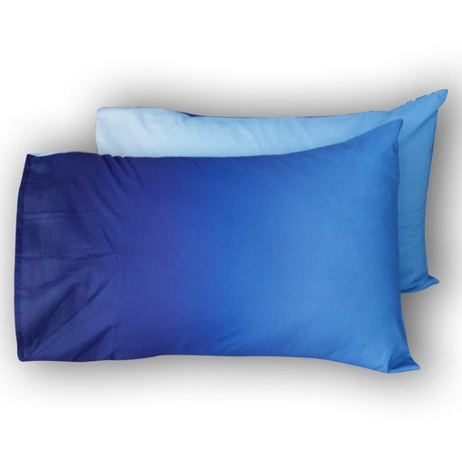 Ombre Blue Pillow Covers - Cotton Passion
