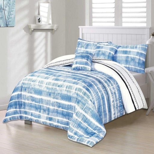 Distorted Blue Bedsheet Set - Cotton Passion