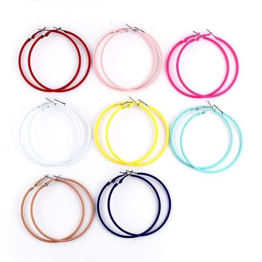 Neon Hoop Earrings - Cotton Passion