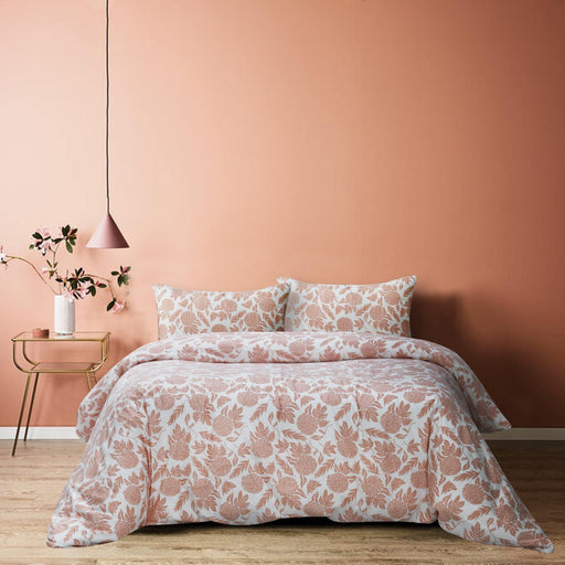 Peachy Floral Quilt Cover Set - Cotton Passion