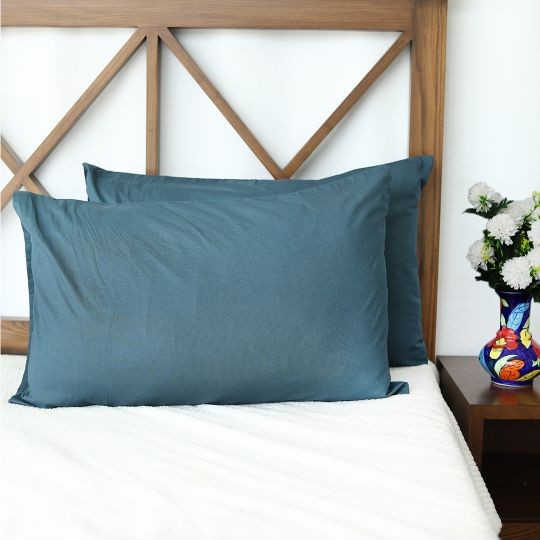 Plain Zinc Cotton Pillow Covers