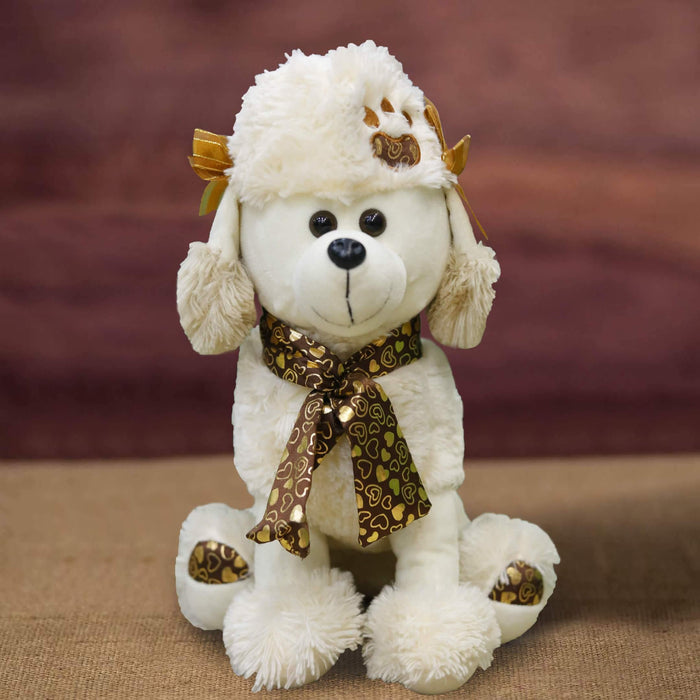 Stuffed Poodle Dog- L (18 inches) - Cotton Passion