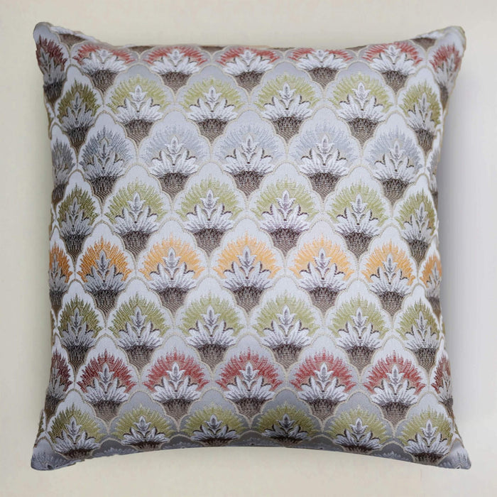 Jacquard Silver Cushion Cover - Cotton Passion