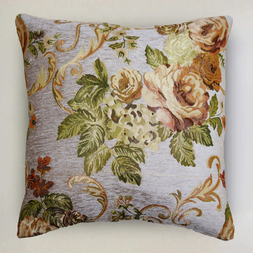 Beige Rose Cushion Cover - Cotton Passion