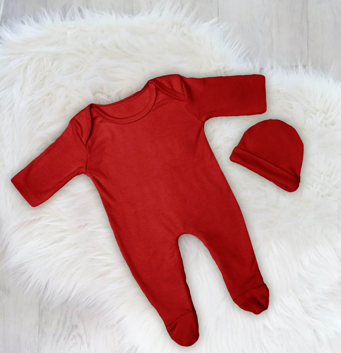 Ultrasoft Plain Baby Romper Set