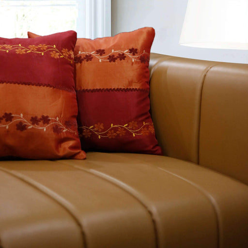 Duo Tone Orange Cushion Cover - Cotton Passion