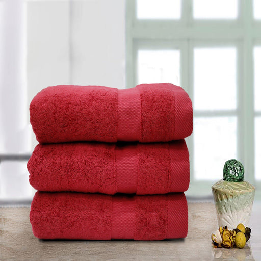 Double Stripe Soft Towel Red - Cotton Passion