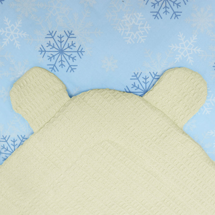 Snowflakes Bear Ears Baby Wrap