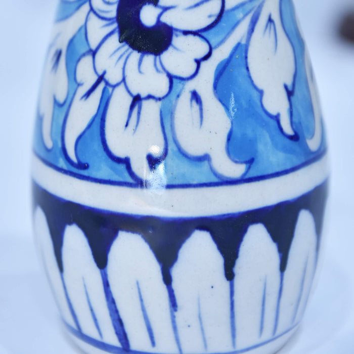 Geometrical Blue Cylindrical Small Vase
