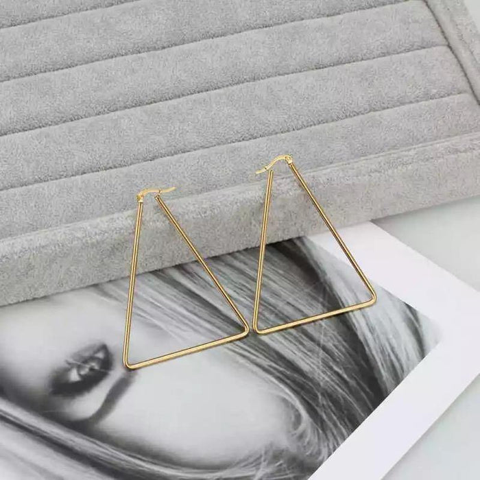 Triangle Hoop Earrings - Cotton Passion