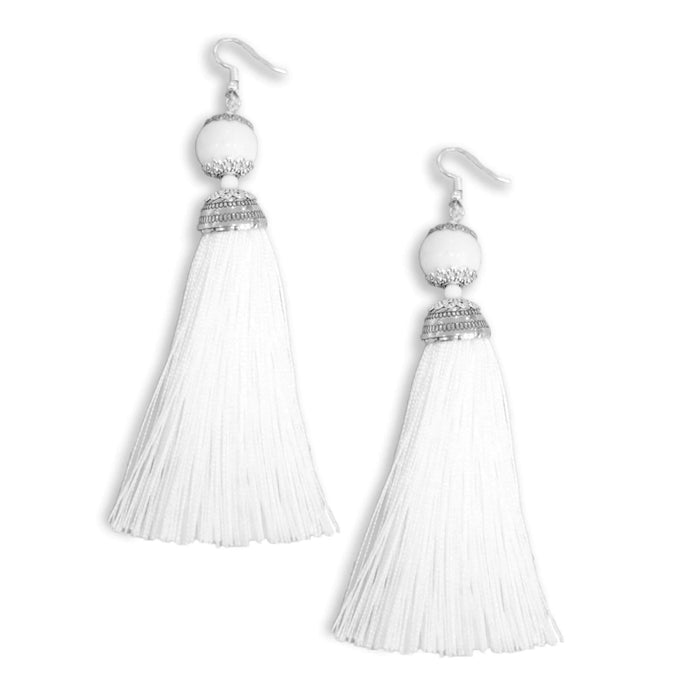 Tassel Drop Earrings - Cotton Passion