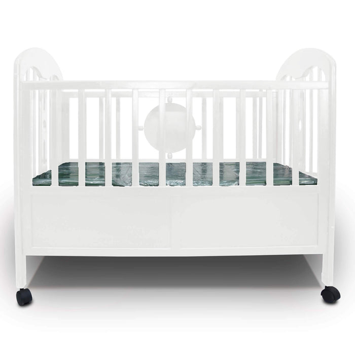 Premium Quality Baby Wooden Cot Bed White
