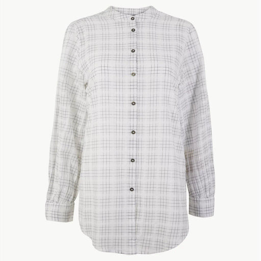Pure Cotton Checked Longline Shirt White - Cotton Passion