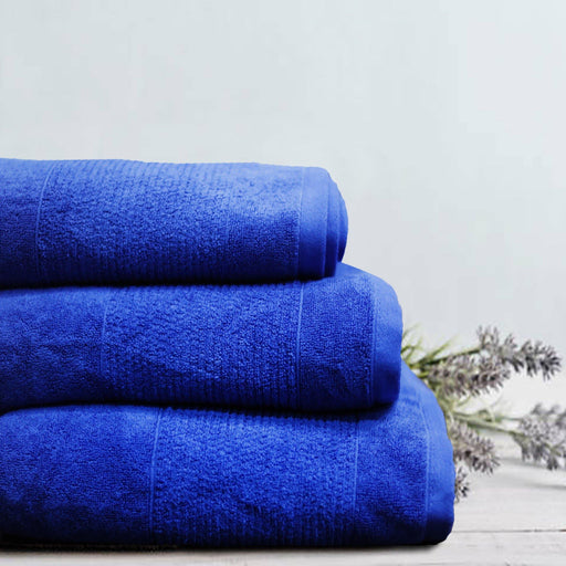 Thick Stripe Soft Towels Royal Blue - Cotton Passion