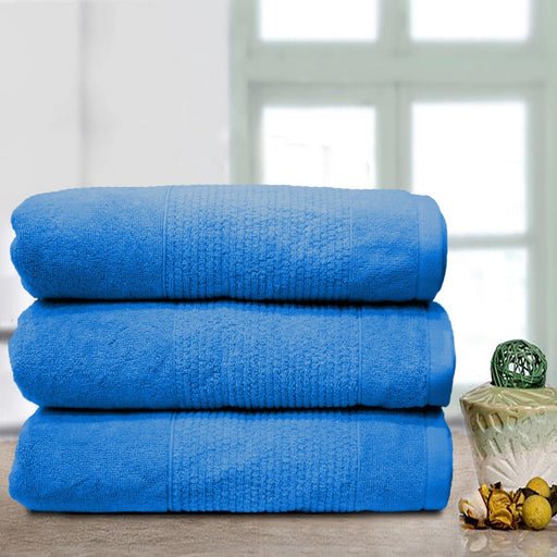 Thick Stripe Soft Towel Blue - Cotton Passion