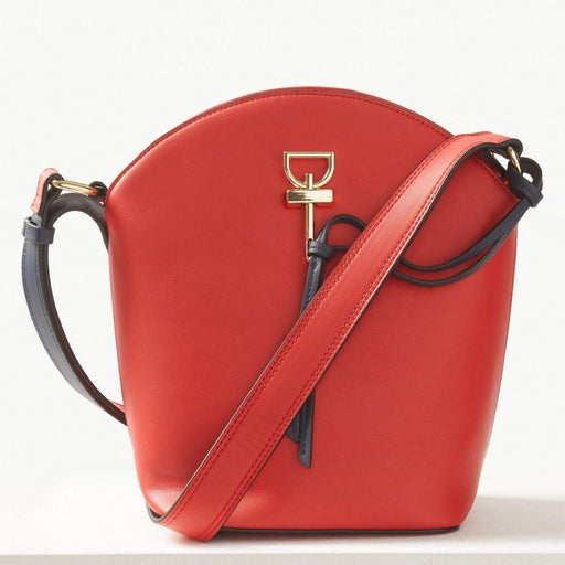 Red Faux Cross Body Leather Bag - Cotton Passion