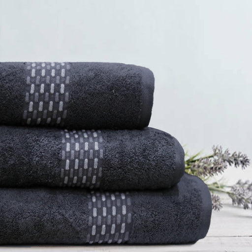 Charcoal Weaved Soft Towel - Cotton Passion