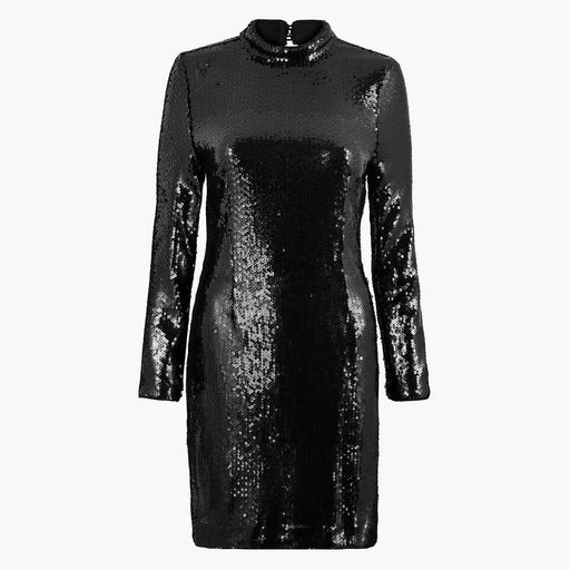 Sequin Bodycon Mini Dress Black - Cotton Passion