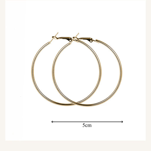 Gold Hoop Small Earings - Cotton Passion