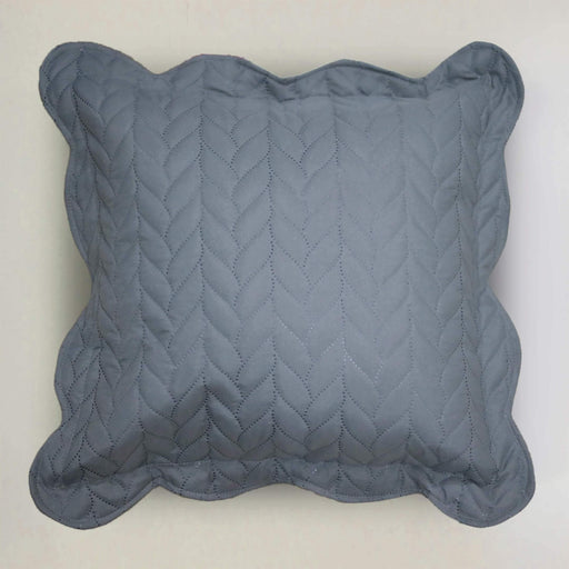 Ultrasonic Quilted Cushion Cover Grey - Cotton Passion