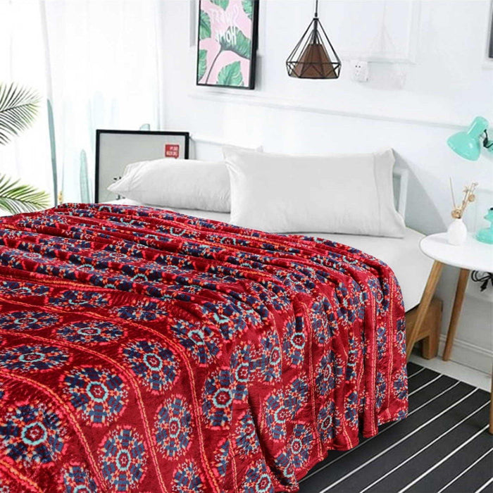 Rotary Red Fleece AC Blanket - Cotton Passion