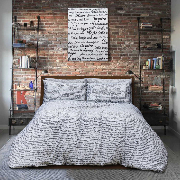 Literature Style Pure Cotton bedsheet - Cotton Passion