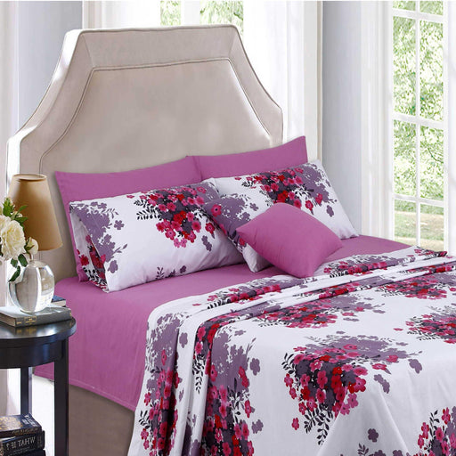 Carnation Pink Polycotton Bedsheet - Cotton Passion