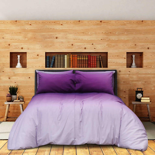 Ombre Purple Pure Cotton Bedsheet - Cotton Passion