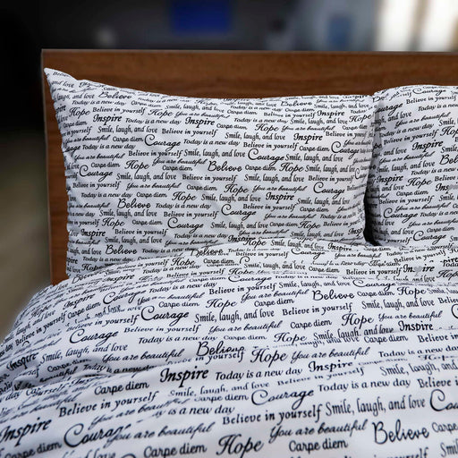 Literature Style Pure Cotton Quilt Cover - Cotton Passion