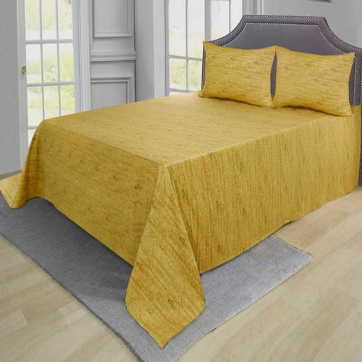 Bed Rock Golden Pure Cotton Bedsheet - Cotton Passion
