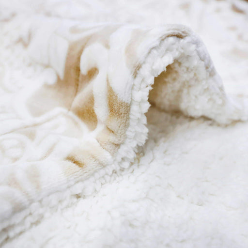 Printed Skin Leaves Sherpa Blanket - Cotton Passion