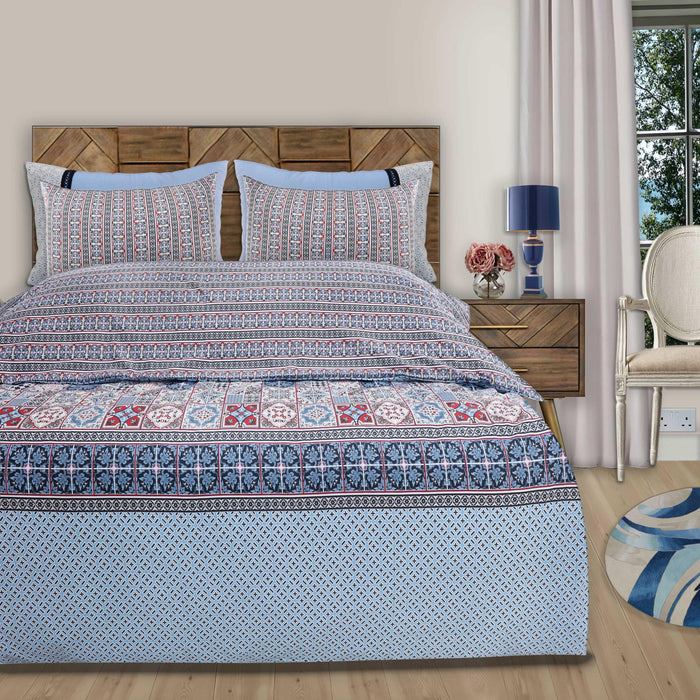 Oblong Sky Style Double Bedsheet - Cotton Passion