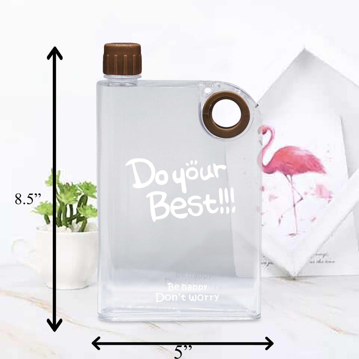 Do Your Best Style Transparent Water Bottles - Cotton Passion
