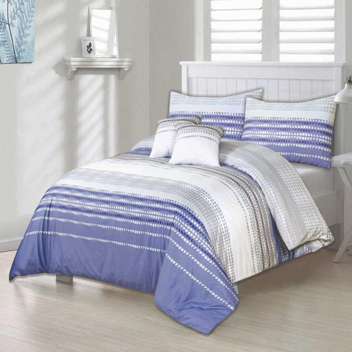 Trigonous Stripes Bedsheet Set - Cotton Passion