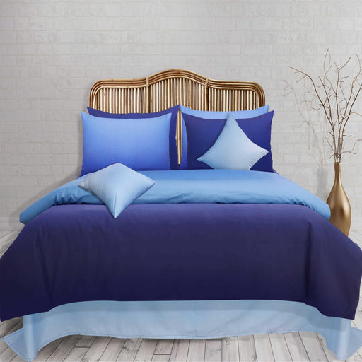 Ombre Blue Pure Cotton Quilt Cover - Cotton Passion