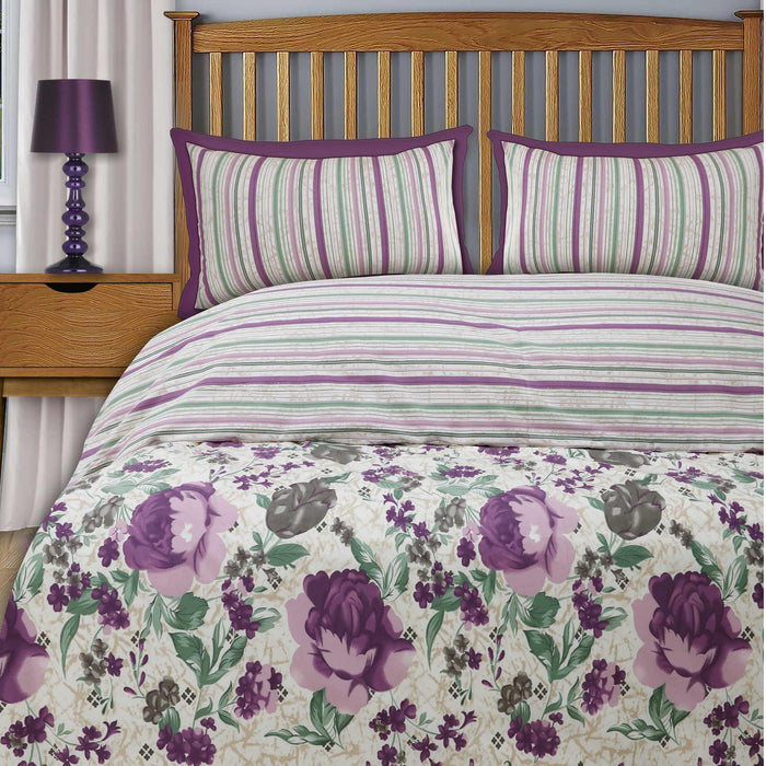 Amythest Style Polycotton Double Quilt Cover - Cotton Passion