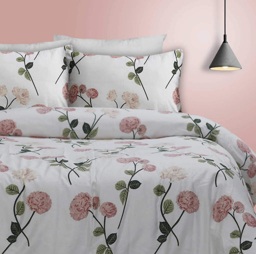 Floriferous White Quilt Cover Set - Cotton Passion