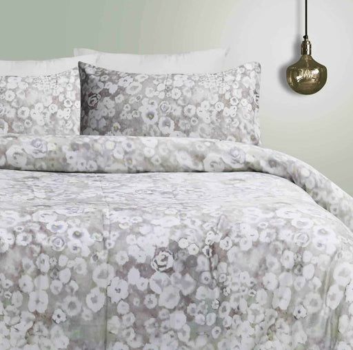 Abloom Mint Quilt Cover Set - Cotton Passion