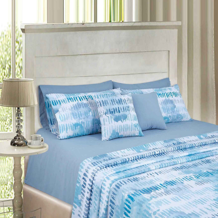 Indigo Blue Polycotton Bedsheet - Cotton Passion