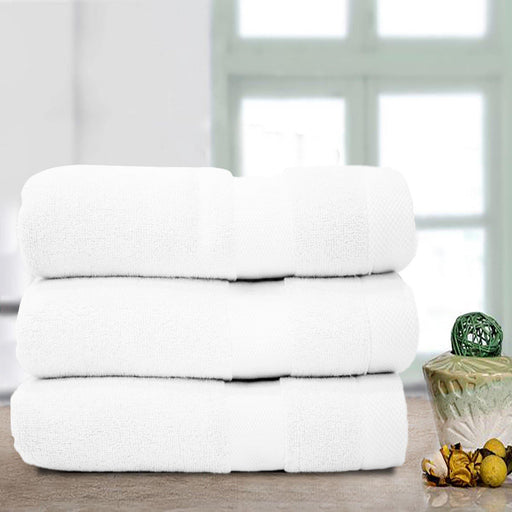 Double Stripe Soft Towel White - Cotton Passion