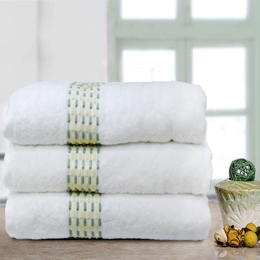 White Weaved Soft Towels - Cotton Passion