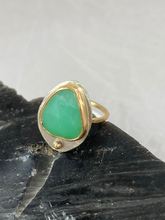 Load image into Gallery viewer, Stacker Ring--Green Chrysoprase